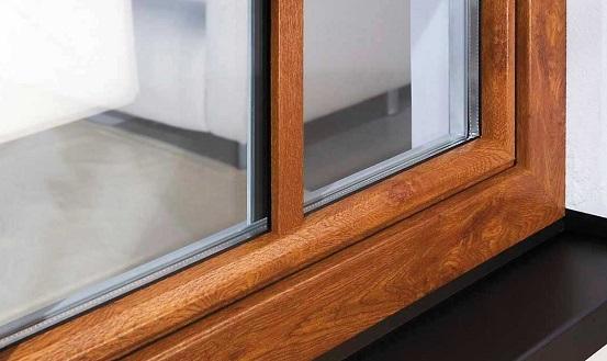 پنجره upvc با نمای چوبی