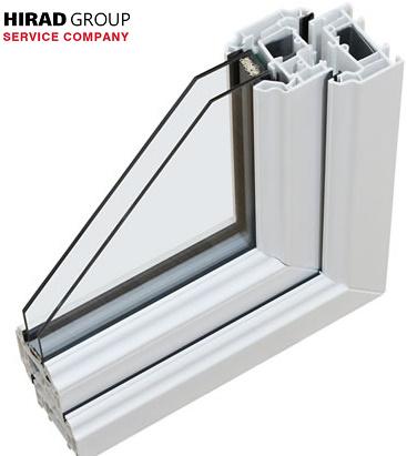 شرح ساختار شیشه دوجداره upvc