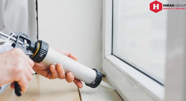 عایق بندی پنجره دوجداره جهت جلوگیری از نفوذ اب باران